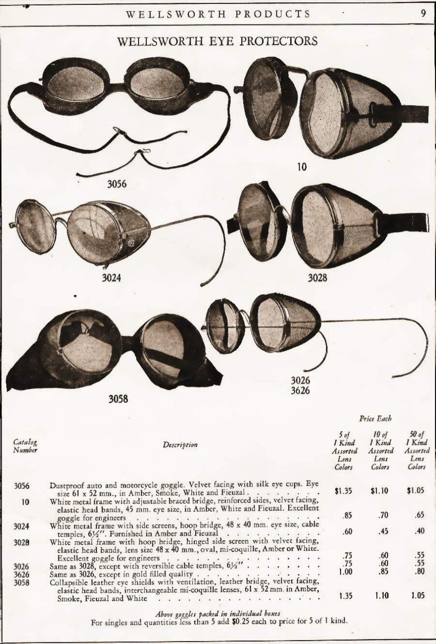 Glasses Frame History : AO Safety Historic info